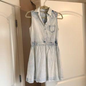 Light wash denim dress